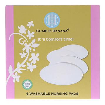 Charlie Banana, Washable Nursing Pads, Black, 6 Pads
