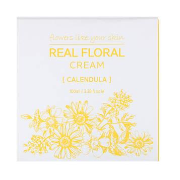 Nacific, Real Floral Cream, Calendula, 3.38 fl oz (100 ml)