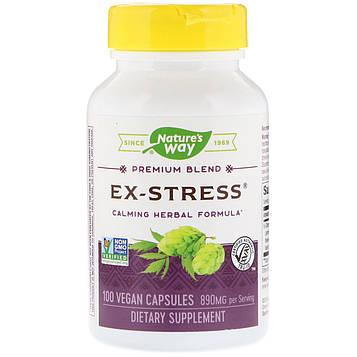 Natures Way, Успокаивающее средство «Стресс в прошлом», 445 мг, 100 растительных капсул