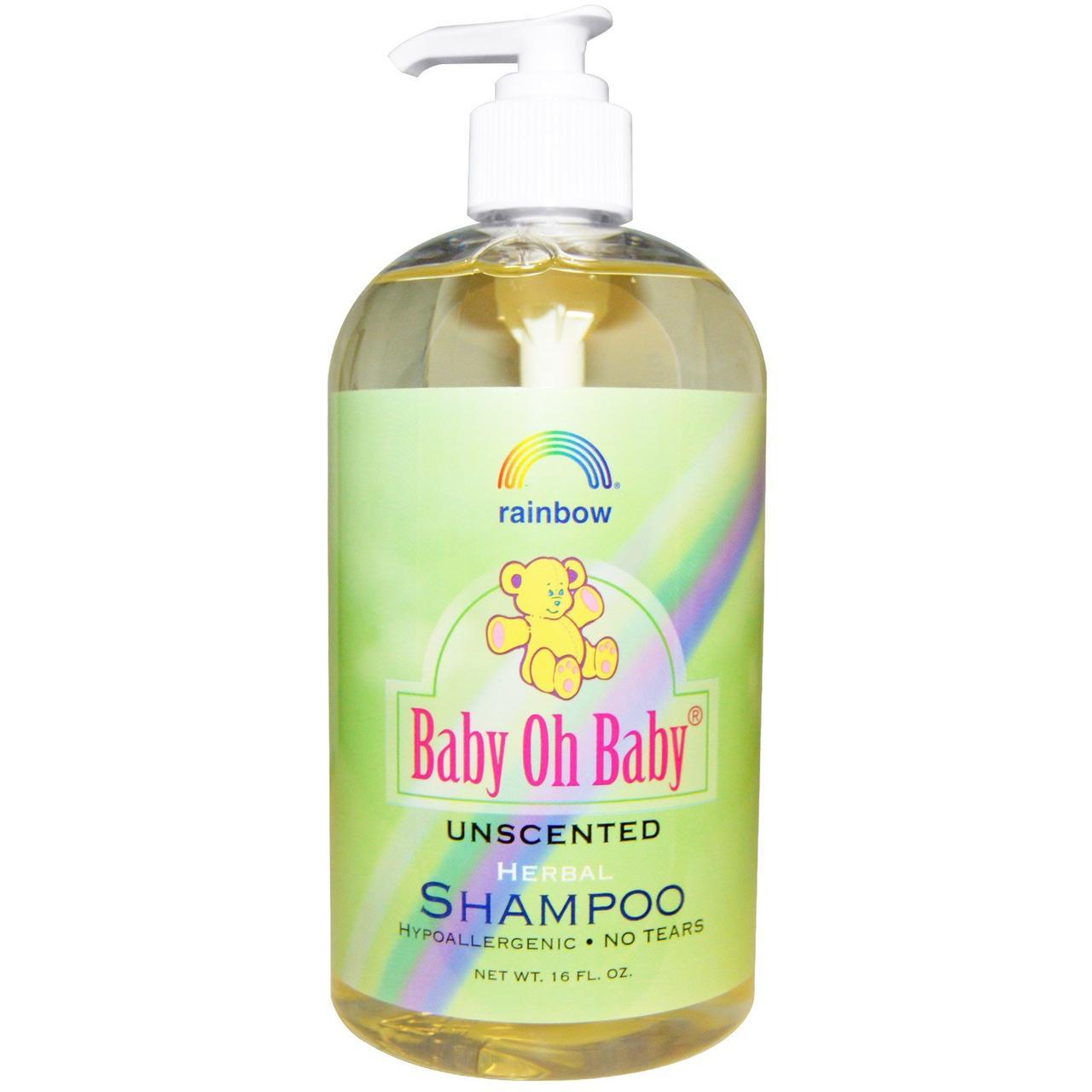 Rainbow Research, Baby Oh Baby, органический травяной шампунь, без запаха, 16 жидких унций