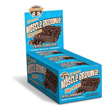 Lenny & Larrys, Печенье Muscle Brownie, тройной шоколад, 12 печений, 2,82 унции (80 г) каждое