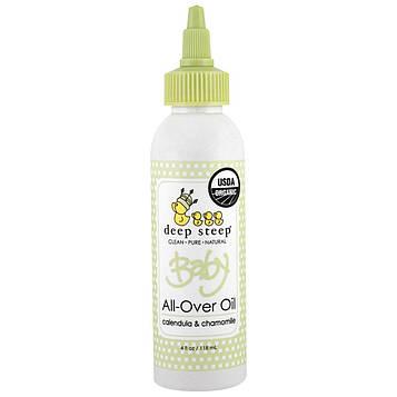 Deep Steep, Органическое детское масло для тела, с календулой и ромашкой, 4 жидких унции (118 мл)