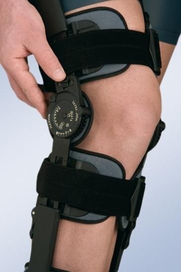 Ортез коленного сустава с ограничителем сгибания-разгибания, высокий