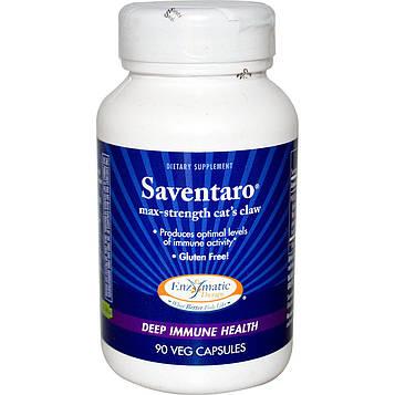 Enzymatic Therapy, Saventaro, кошачий коготь, 90 капсул в растительной оболочке