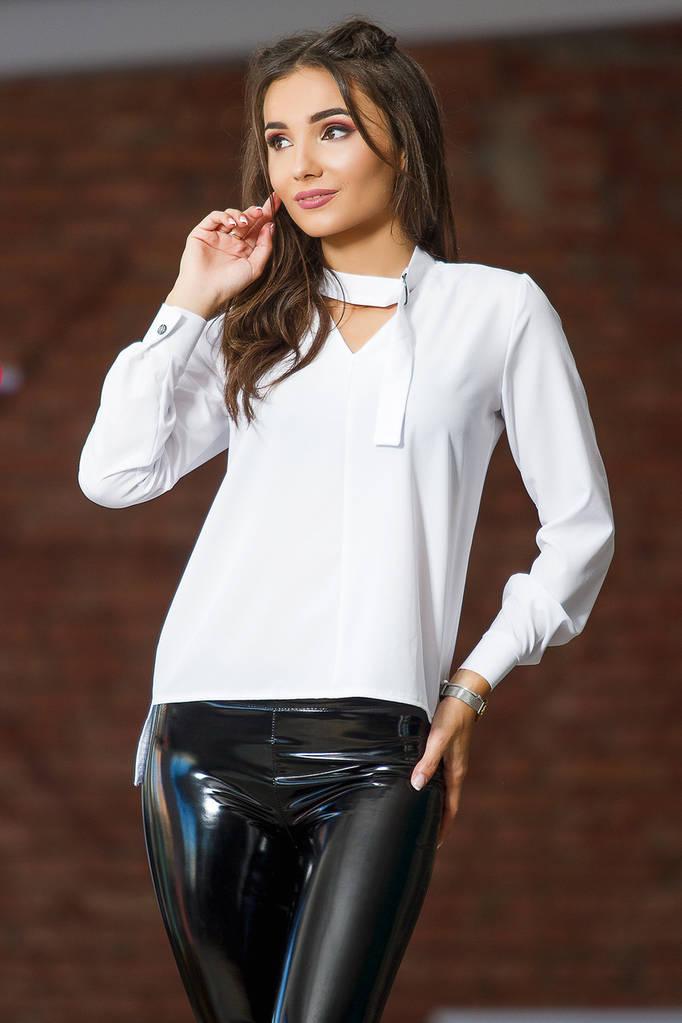 Женская блузка с длинным рукавом / 2 цвета арт 7313-597