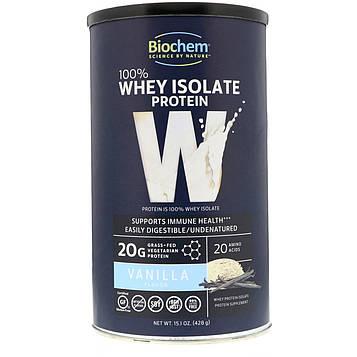 Biochem, Biochem, 100% Whey Isolate Protein, Vanilla Flavor, 15.1 oz (428 g)