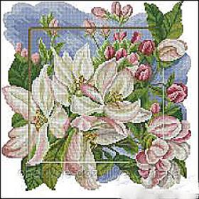 """Набор алмазной вышивки (мозаики) """"Яблоневый цвет"""""""