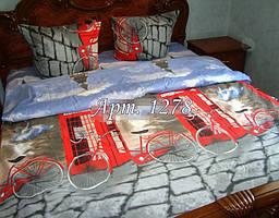 Евро-комплект постельного белья из бязи,  Арт. 1278