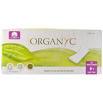 Organyc, Прокладки на каждый день из органического хлопка, для незначительных выделений, 24 прокладки