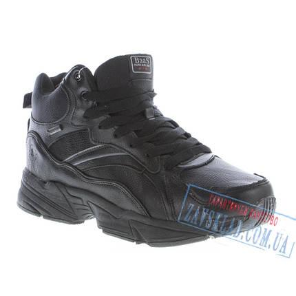 Мужские черные зимние кроссовки BaaS BS22. Натуральная кожа, на меху., фото 2