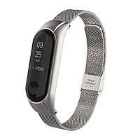 Ремешок Fitness для Xiaomi Mi Band 3 Armor Silver 123333, КОД: 178483