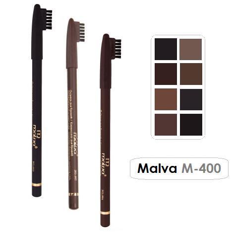 Карандаш для бровей с щеточкой Malva M-400