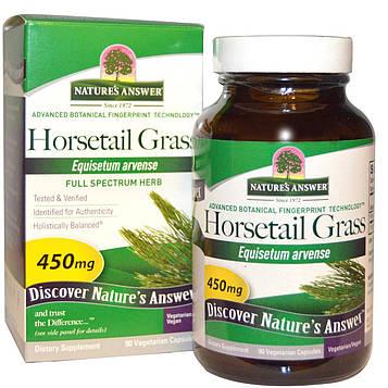Natures Answer, Трава конский хвост, 450 мг, 90 растительных капсул