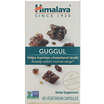 Himalaya, Гуггул, 60 вегетарианских капсул