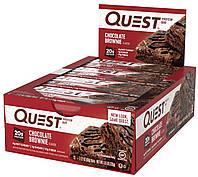 Quest Nutrition, QuestBar, протеиновый батончик, шоколадный брауни, 12 батончиков, 2,1 унц. (50 г) каждый