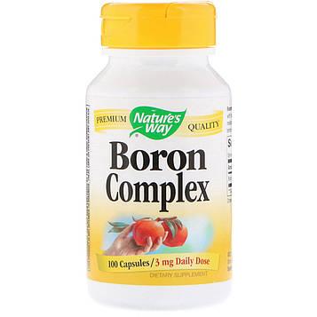 Natures Way, Комплекс Boron, 3 мг, 100 капсул
