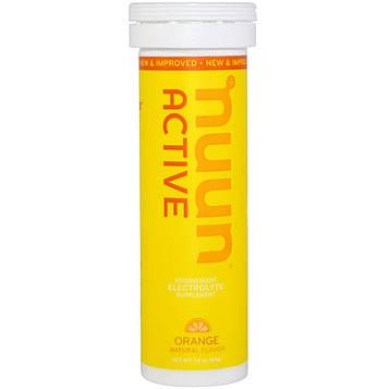 Nuun, Активные таблетки, апельсин, 10 таблеток, 1,9 унции (54 г)