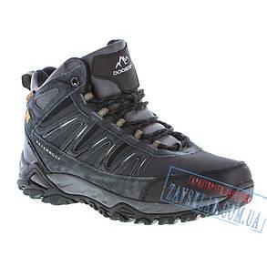 Черные зимние мужские кроссовки BaaS BS23. Натуральный нубук, искусственный мех., фото 2