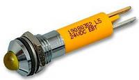 Индикатор светодиодный 8 мм желтый 220 AC 19510432