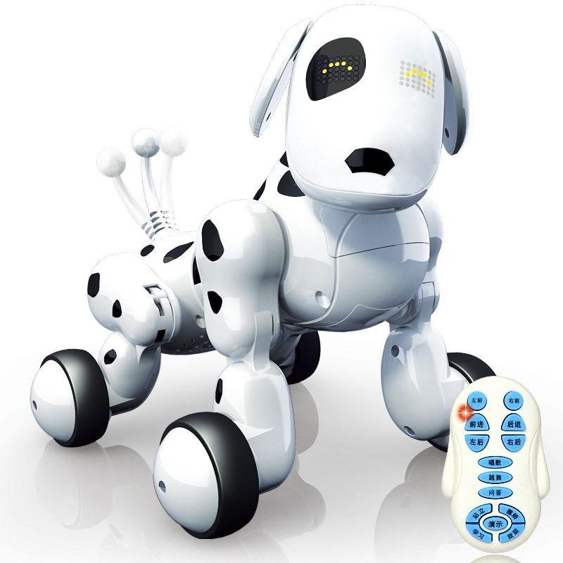 Робот собака интерактивная 619 радиоуправление, аккумулятор, язык англ.