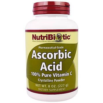 NutriBiotic, Аскорбиновая кислота, 100% чистый витамин C, кристаллический порошок, 8 унций (227 г)