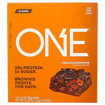 Oh Yeah!, Один батончик, шоколадный брауни, 12 батончиков, 2,12 унц. (60 г) каждый