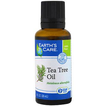 Earths Care, Масло чайного дерева, 1 жидкая унция (30 мл)