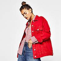 Джинсовая куртка L Красный (18JJ03-L) КОД: 333963