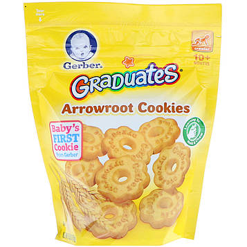 Gerber, Graduates, Arrowroot Cookies, Crawler, 10+ Months, 5.5 oz (155 g)