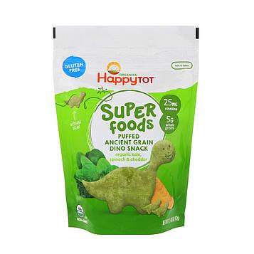 Nurture Inc. (Happy Baby), Organics Happy Tot, супер-пища, снек из воздушного зерна, органической капусты, шпината, чеддера, 1,48 унц. (42 г)