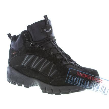 Черные мужские зимние кроссовки BaaS BS27. Натуральный нубук, искусственный мех., фото 2