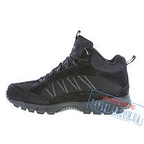 Черные мужские зимние кроссовки BaaS BS27. Натуральный нубук, искусственный мех., фото 3
