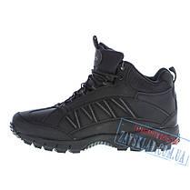 Мужские черные зимние кроссовки BaaS BS28. Натуральный нубук, искусственный мех., фото 3