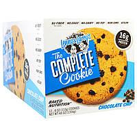 Lenny & Larrys, Complete Cookie, с шоколадными чипсами, 12 шт, одно печенье - 4 унции (113 гр)