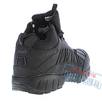 Мужские черные зимние кроссовки BaaS BS28. Натуральный нубук, искусственный мех., фото 2