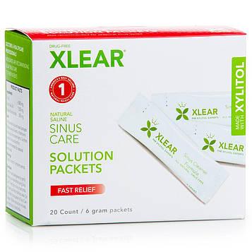 Xlear, Пакетикм Sinus Care Solution, быстрое облегчение, 20 штук, 6 г каждый