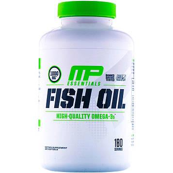 MusclePharm, Essentials, рыбий жир, 180 мягких таблеток