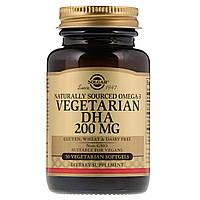 Solgar, Натуральная омега-3, ДГК растительного происхождения, 200 мг, 50 вегетарианских мягких таблеток