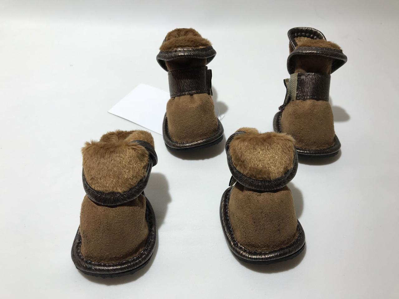 Ботинки для собак Кросс утепленные размер №3 коричневые