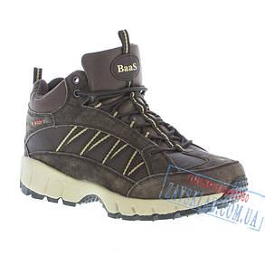 Коричневые мужские зимние кроссовки BaaS BS30. Натуральный нубук, искусственный мех., фото 2
