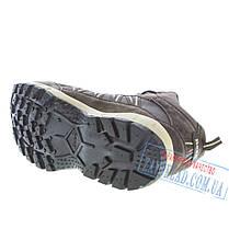Коричневые мужские зимние кроссовки BaaS BS30. Натуральный нубук, искусственный мех., фото 3