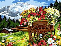 Картины по номерам 30×40 см. Красочное разнообразие цветов, фото 1
