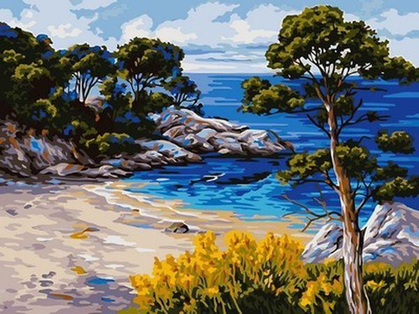 Картины по номерам 30×40 см. Берег моря