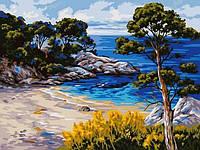 Картины по номерам 30×40 см. Берег моря, фото 1