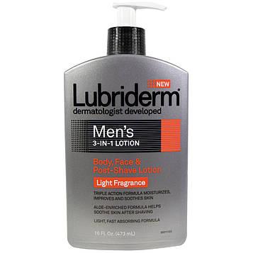Lubriderm, Мужской лосьон «3-в-1», лосьон для тела, лица и после бритья, 16 жидк. унц. (473 мл)