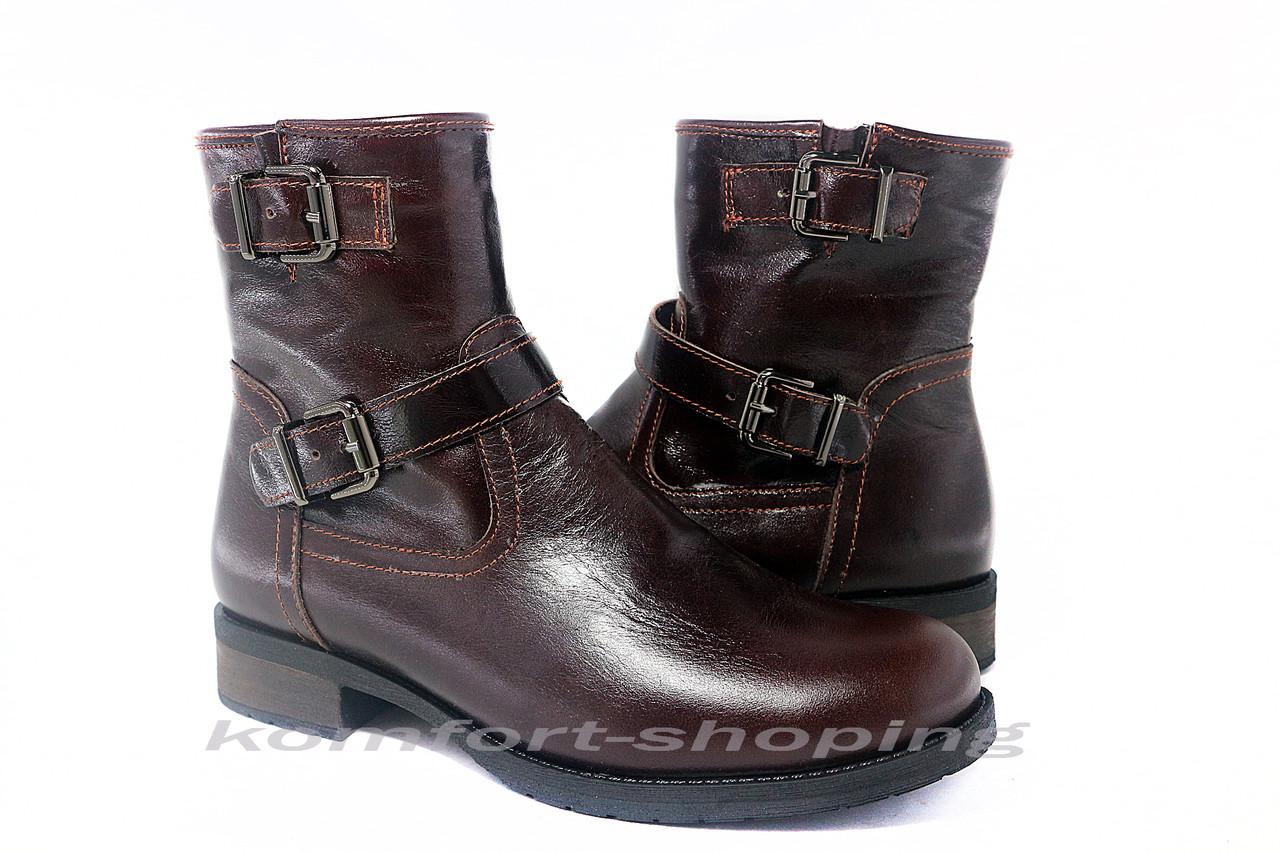 Ботинки женские коричневые  кожаные  V 1207