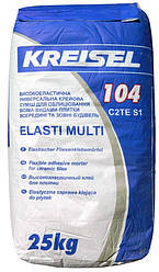Клейова суміш для плитки еластична Крайзель (Kreisel) 104, 25 кг