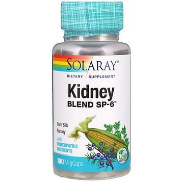 Solaray, Смесь для почек SP-6, 100 вегетариансих капсул