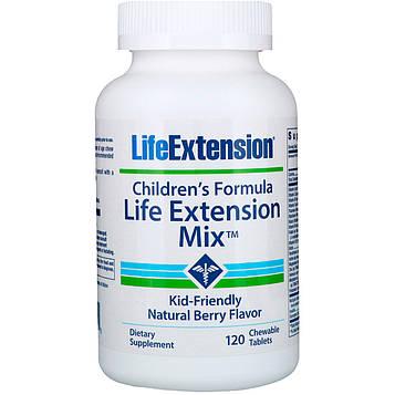 Life Extension, Детская формула, Смесь Life Extension, вкус натуральных ягод, 120 жевательных таблеток