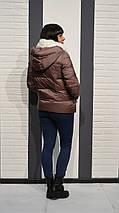 Куртка женская пепел-роза Clasna 117, фото 3